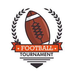 football logo sport vector image