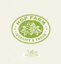 green hop organic farming design element on vector image vector image