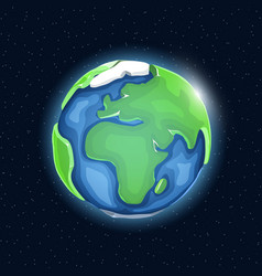 realistic beautiful planet earth globe vector image