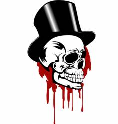 skull and hat vector image vector image