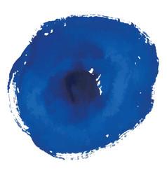 blue rough watercolor circle spot banner vector image vector image