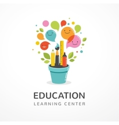 Growing idea - education creativity and science vector image
