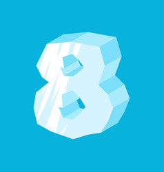 number 8 ice icicles font eight frozen alphabet vector image
