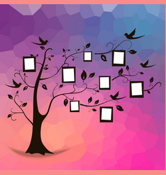 Tree and photos vector image