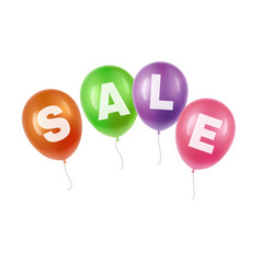Balloons with sale vector