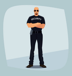 security guard crossed arms on his chest vector image