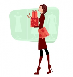 successful shopping vector image vector image