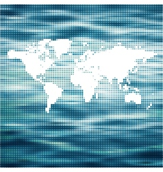 world Ocean map concept vector image vector image