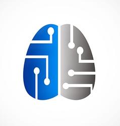 brain technology abstract logo vector image vector image