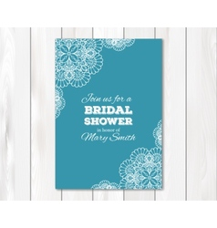 Bridal shower or wedding invitation card template vector image