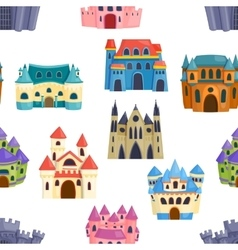 Castle seamless pattern vector image vector image
