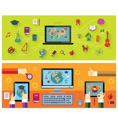 Online education Modern technology vector image
