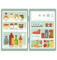 Open fridge vector image vector image