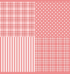 pink seamless patterns vector image
