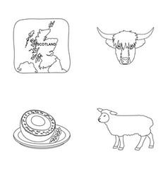 Territory on the map bull s head cow eggs vector