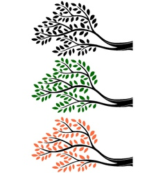 Tree branch silhouette vector image vector image