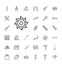 33 metal icons vector