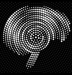 abstract brain of radial dots vector image