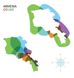 abstract color map armenia vector image