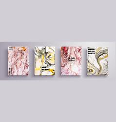 artistic covers design liquid marble texture vector image