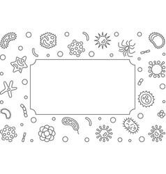 Bacteria microbiology outline frame vector