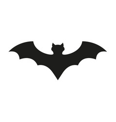 bat of icon the helloween evil blood vector image