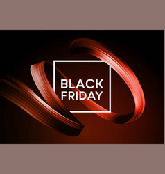 black friday sale banner with flow color paint vector image