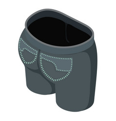 black short icon isometric 3d style vector image