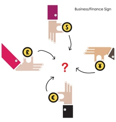 Businessman hand with money icon vector image