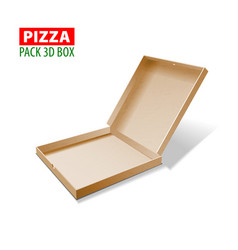 cardboard 3d box for pizza vector image