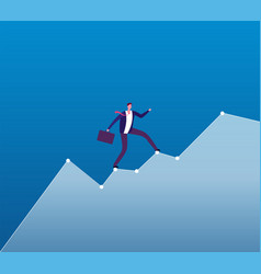 career growth concept businessman rises of vector image