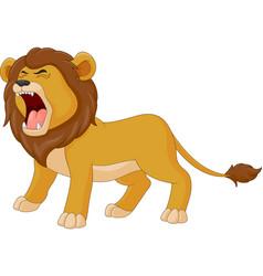 Cartoon lion is roaring vector