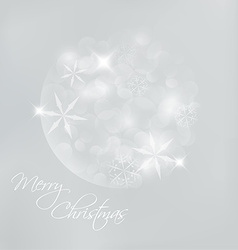 Christmas card with snowflakes and lights vector image