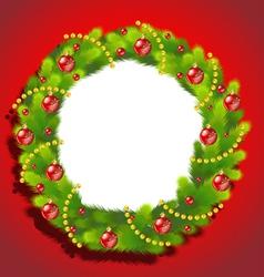 Christmas Wreath frame vector