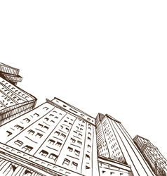 City hand drawn vector image