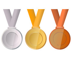 collection of medals for the champions vector image