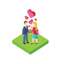 Couple Walk Design Flat vector
