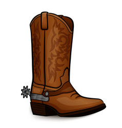 Cowboy boot brown design vector
