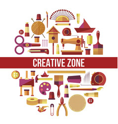Creative zone painting art hobby and craft vector
