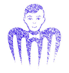 Croupier spectre monster icon grunge watermark vector