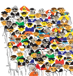 Crowd Color vector image