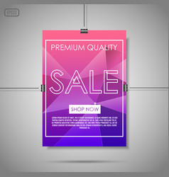 crystal sale background vector image