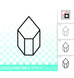 crystal simple black line icon vector image