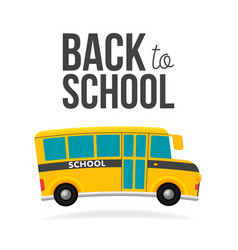 cute cartoon school bus with color and back to vector image