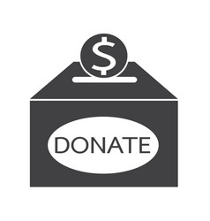 donation box icon vector image