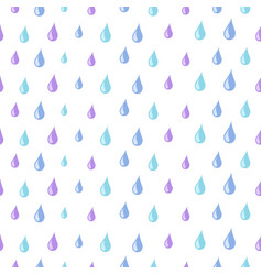 drops pattern rain water seamless texture vector image