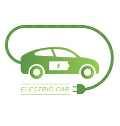 Electric car and electrical charging station vector
