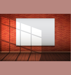 empty mockup billboard on brick wall vector image