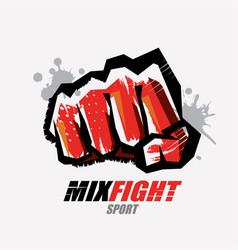 fist symbol martial arts concept logo or emblem vector image