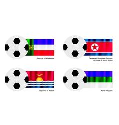 Football of Khakassia North Korea Kiribati vector image